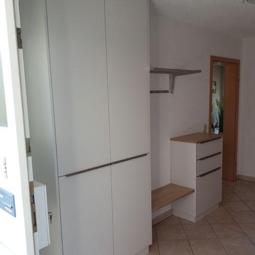 Referenz Garderobe - Schreinerei Bergmann - Küssaberg-Kadelburg